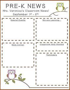 Teacher Pay Free Newsletter Template For Halloween on