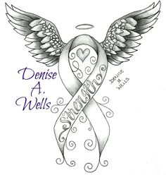 https://flic.kr/p/wWoQ25 | Strength awareness ribbon tattoo design by Denise A. Wells | Strength awareness ribbon tattoo design by Denise A. Wells