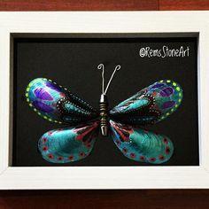 Kelebek v.5 - Butterfly (cam yüzey , 40 TL) #kelebek #butterfly #instagood #photooftheday #handmade #stoneart #elsanatlari #bestoftheday #turkey #türkiye