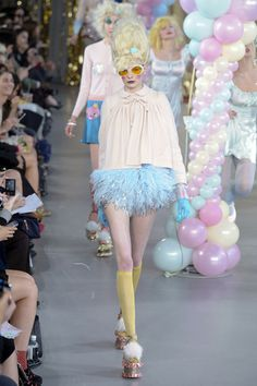 I like the juxtaposition of the short skirt and the long sleeves. It creates a juvenile quality, but in a good way. #MeadhamKirchhoff #TopshopPromQueen