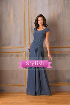 2016 Cowl Neck Prom Dresses A Line Chiffon With Applique And Beads US$ 149.99 STP23F3F84 - stylishpromsdress.com