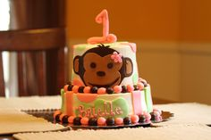 Brielle's Mod Monkey Cake made by @Stacey Young