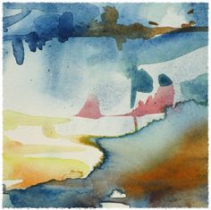 Water's Calm on Beach | Abstract Landscape Watercolor Painting (Fine Art)