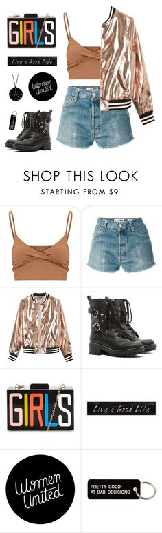 """""""Street Style"""" by tsaniaardhani on Polyvore featuring RE/DONE, Sans Souci, RED Valentino, 3R Studios and Various Projects"""