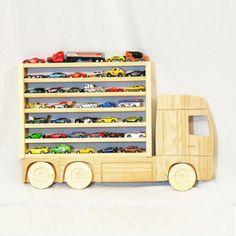 etageres en bois enfant camion