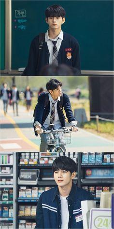 Why he look so natural ? Ong Seongwoo, My Big Love, Kim Jaehwan, Ha Sungwoon, Kdrama Actors, My Youth, Beautiful Love, 3 In One, Lee Min Ho