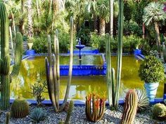 Marrakech taught me color. Yves Saint Laurent - Beauty will save Kew Gardens, Botanical Gardens, Outdoor Gardens, Gazebo Pergola, Garden Gazebo, Most Beautiful Gardens, Amazing Gardens, Excursion Marrakech, Gardens Of The World