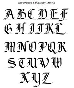 Calligraphy alphabets! One shown here is the one I love doing most.
