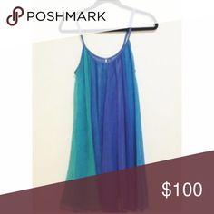 Free People blue ombre dress beautiful barely worn ombre dress in all shades of blue Free People Dresses Mini