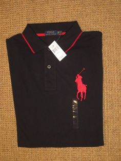 Polo ralph lauren big pony shirt men s 2xb xxl 2x big   tall black xx large 82fb1b808b8