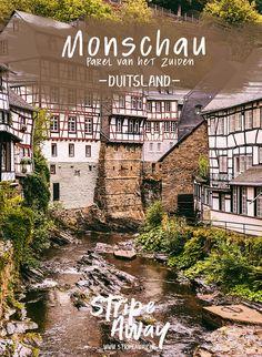 Monschau: bezoek de Parel van de Eifel - Stripe Away Water Activities, Weekender, Vintage Travel Posters, Culture Travel, Germany Travel, Vacation Destinations, Travel Usa, Places To See, Beautiful Places