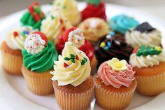 Christmas Cupcake Decorating Ideas #xmas