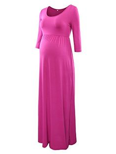 """New Trending Formal Dresses: Jinson Womens Basic 3/4 Sleeve Maternity Long Maxi Dress Vestido with Empire Waist for Pregnancy Magenta M. Jinson Women's Basic 3/4 Sleeve Maternity Long Maxi Dress Vestido with Empire Waist for Pregnancy Magenta M  Special Offer: $18.99  244 Reviews This product has not authorized any other shop, please look for our brand """"Jinson"""". About Jinson Jinson is a new online..."""