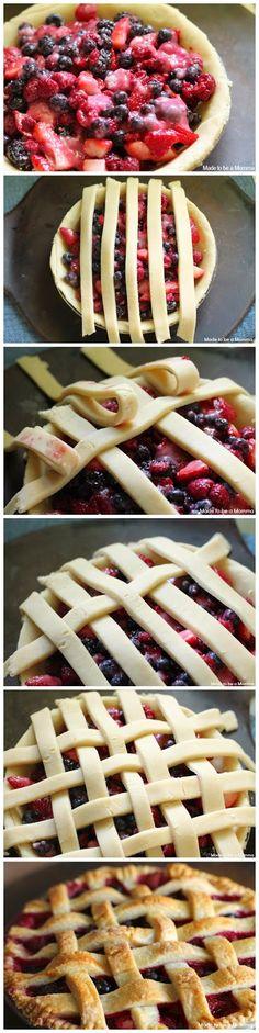 Triple Berry Pie ~ Chopped Jalapeno