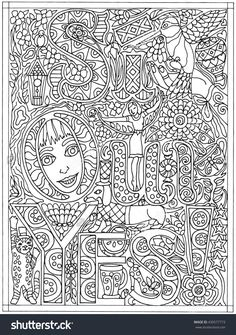 Adult Coloring Book Poster Page Si Oui Yes Black And White Vector Illustration
