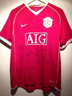 Manchester United Home Shirt 2008/2009 Signed By Full Squad