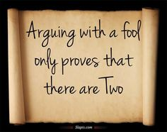 Hit the Nail on the Head with This ONE …. Never Argue With A Fool !!!! Never