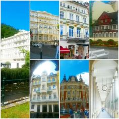Beautiful buildings in Karlovy Vary  I really loved to visit this small city #travel #traveling #czech #czechrepublic #karlovyvary #followmeto #beautifulbuildings