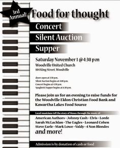 Read & Share  #Arts Woodville #KawarthaLakes #Ontario New Moses Concert Supports Food Bank!  Read the back story on our blog