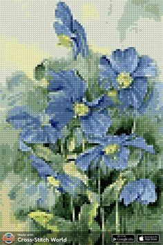 Cross Stitch Heart, Cross Stitch Flowers, Cross Stitch Patterns, Tapestry Crochet Patterns, Amazing Flowers, Pin Cushions, Embroidery, Knitting, Diy