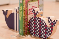 NEW Custom Designed Wooden Whale Bookends - Custom Created to Coordinate with Nursery Letters