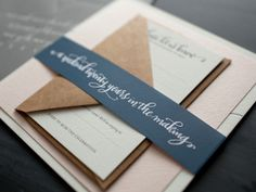 Kate + Philip's Sophisticated Calligraphy Wedding Invitations