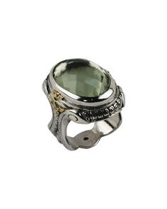 Braided Green Amethyst Oval Ring by Konstantino at Neiman Marcus Last Call.