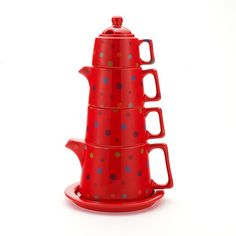 Tea Tower Polka Dot