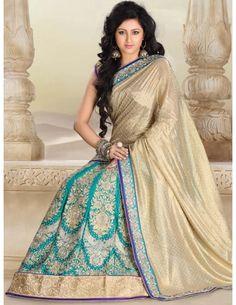 Shimmer Georgette Pallu Lehenga Sari Item code : SSA11735B  http://www.bharatplaza.com/womens-wear/sarees/lehenga-saree/shimmer-georgette-pallu-lehenga-sari-ssa11735b.html
