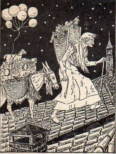 Befana's illustration in a vintage postcard. Old Christmas, Christmas Pictures, Yule, The Good Witch, Female Hero, Historical Art, Hello Dolly, Winter Solstice, Love Images