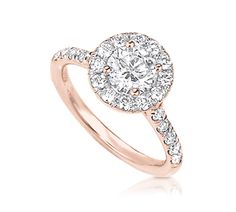 Rose Gold Engagement Ring with Halo