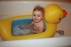The Ducky Tub ~ great for travel or for everyday use, this inexpensive tub was my girls' favorite. ~$16