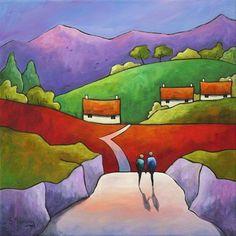 Bilderesultat for Gillian Mowbray Kids Canvas Art, Cottage Art, Tropical Art, Encaustic Art, Illustration, Naive Art, Elements Of Art, Beautiful Paintings, Contemporary Paintings