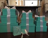 Tiffany co box centerpieces in 3 sizes $35-65