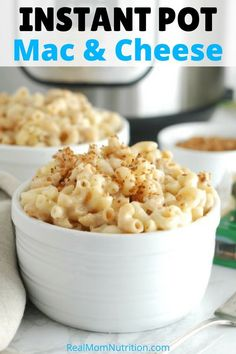 If you need a quick weeknight dinner, this Instant Pot Mac and Cheese is healthy and kid-friendly. It's perfect comfort food for busy nights! I was asked to participate in the Cabot Cheese campaign as Vegetarian Recipes, Healthy Recipes, Healthy Kids, Healthy Living, Chef Recipes, Pasta Recipes, Dinner Recipes, Quick Weeknight Dinners, Pressure Cooker Recipes