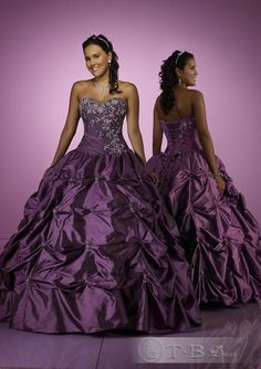 I will probably still choose a white gown but I had to pin this because it is purple and stunning.