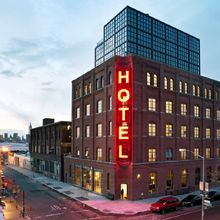 HOTEL & ROOFTOP BAR  Wythe Hotel Brooklyn If you go to Brooklyn, head here to the roof top bar - Wythe Hotel