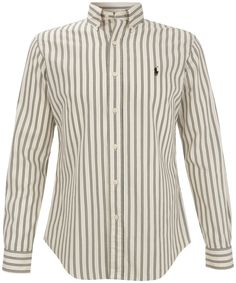 White Faded Stripe Oxford Shirt, Polo Ralph Lauren. Shop the latest Ralph Lauren collection at Liberty.co.uk