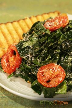 Change up your caesar salad and use kale instead with this Kale Caesar Salad with Grilled Parmesan Crostini!