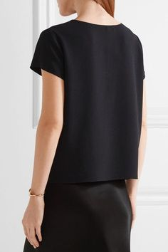 The Row - Lola Stretch-crepe Top - Midnight blue - US6