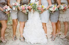 #3 mismatched neutral Bridesmaids