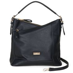 87a719b065 Saint Sabrina Moxie Asymmetrical Hobo in Black. Stylish concealed carry  handbags. Concealed Carry Handbags