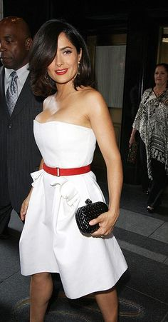 Salma Hayek ...I've been in love with her since I was 12.   Her and I have something special. Lol