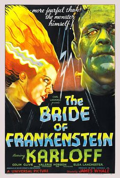 The Bride of Frankenstein (1935) - Nostalgic Full Color Premium Movie Poster