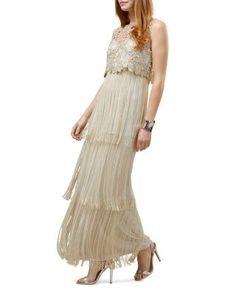 Phase Eight Champagne Lucille Fringe Full Length Dress Phase 8 Dresses, Prom Dresses, Formal Dresses, Wedding Dresses, Bride Dresses, Fringe Dress, Gowns Online, Lace Bodice, Petite Dresses