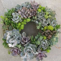 Succulent Wreath by Linda Estrin Garden Design - Excellent.  I love the color.