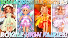 Zodiac Signs Elements, Fairy Clothes, Roblox Pictures, Aesthetic Template, Unicorn Party, Unicorns, Fairies, Royals, Avatar