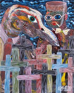 haitian art Frantz Zephirin The Passage of the Ghedes in the Cemetery 2007 Kunst Der Aborigines, Drums Art, Haitian Art, Caribbean Art, Art Brut, Afro Art, Naive Art, Aboriginal Art, Outsider Art