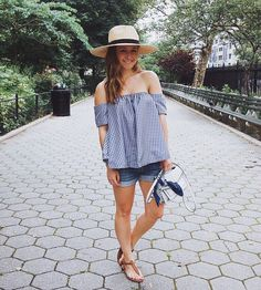 New gingham top added to my summer rotation. More photos abs details are up in a new post on Fizz and Fade. #summer #gingham #ootd #fblogger #fashion #styleblogger #nyc #streetstyle #instafashion