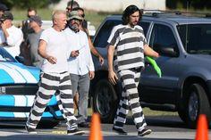 Дэниел Крейг и Адам Драйвер на съемках нового фильма С. Содерберга
